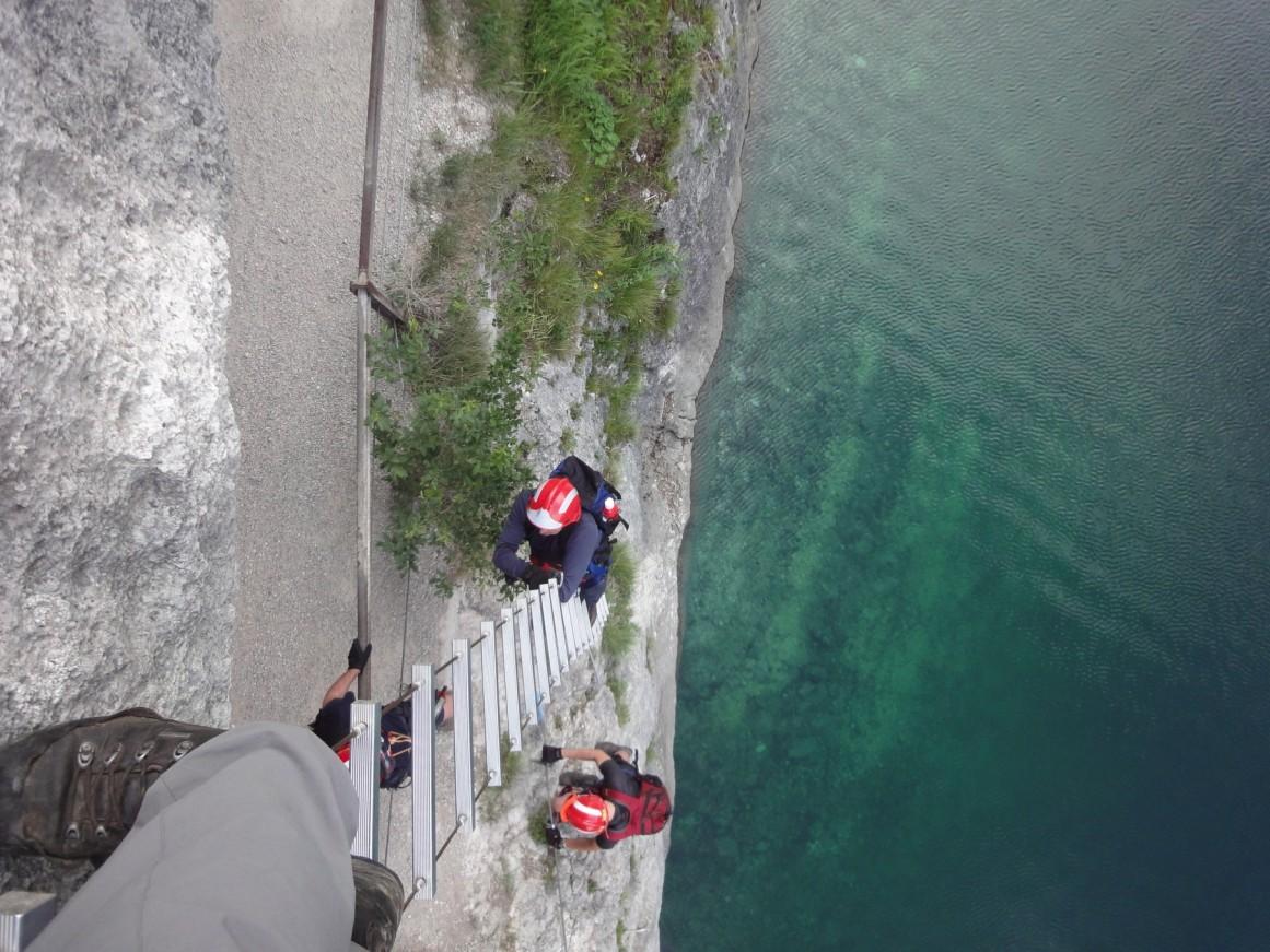 Klettersteig Gosausee : Übung alpintauglichkeit am klettersteig ff vöcklabruck