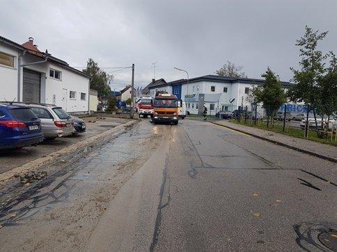 farhbahn 101019 - Fahrbahnverunreinigung Stadtgebiet